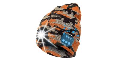 ATNKE LED Iluminado Bluetooth Beanie Cap, USB Recargable