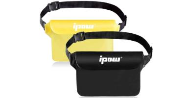 IPOW [2 PCS Bolsa riñonera Impermeable