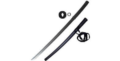 Katana d'Entraînement - Sable japonés de polipropileno, bokken con funda y tsuba (105 cm)