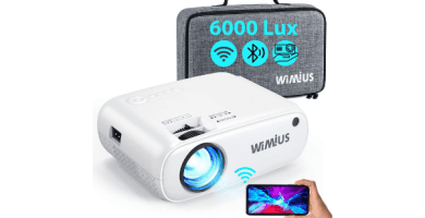 Proyector WiFi Bluetooth, WiMiUS 6000Lux