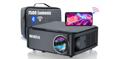 Proyector WiFi Bluetooth Full HD 1080P, 7500 Lúmenes WiMiUS