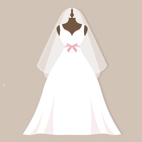 Sonar con una mujer vestida de novia blanco