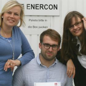 Kollegen bei Enercon