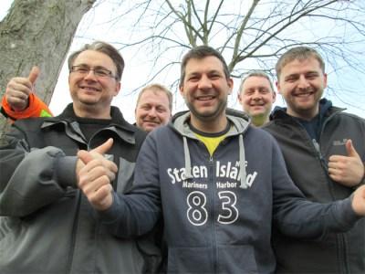 Die fünf Wahlvorstandsmitglieder: Dirk Ernst, Holger Hartmann, Serhat Özdemir, Wilko Krey und Paul Redenius.