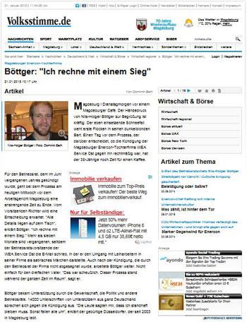 Zum Artikel vom 21. Januar 2015 auf Volksstimme.de