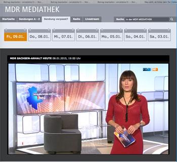 MDR Sachsen-Anhalt Nachrichten vom 8. Januar 2015