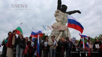 """С """"Безсмъртен полк"""" почетоха Деня на победата (ВИДЕО)"""