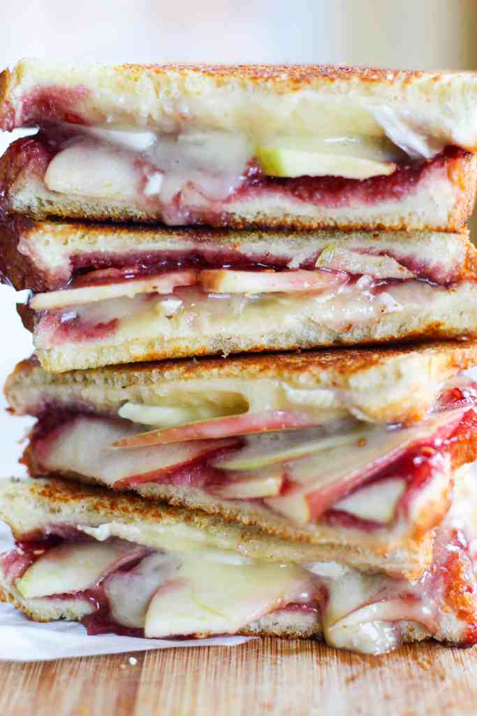 apple, raspberry, and brie gourmet grilled cheese