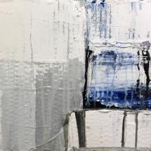Mareas III (Acrylic and ink on cardboard construction, 23x26 cm)