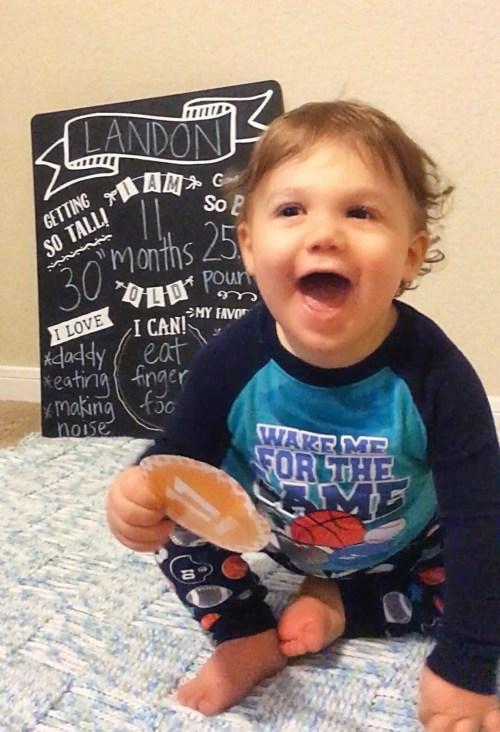 Landon eleven months