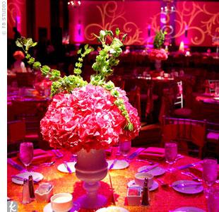 Modern Pink Reception Decor