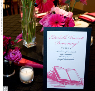 Book Table Cards