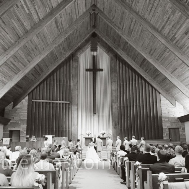 so as not to distract from the church's natural wood interior
