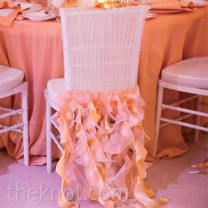 Pink Ruffled Chair Cover