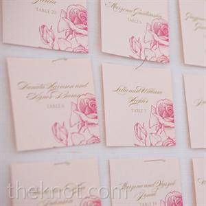 Rose Scripted Escort Cards