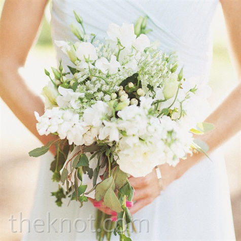 Organic White and Green Bouquet