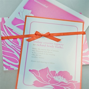 Orange and Pink Invitations