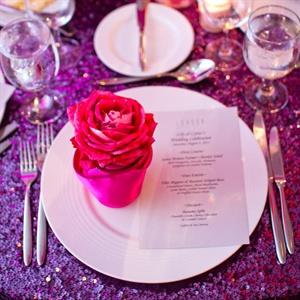 Pink Rose Reception Decor