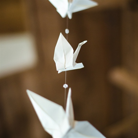 Origami Crane Reception Decor