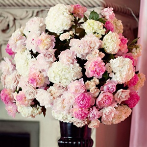 Pink and White Floral Altar Arrangements