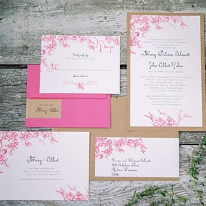 Whimsical Pink Floral Invitations