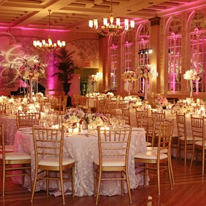 Glam Pink and Gold Reception
