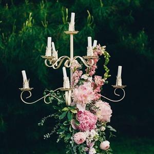 Romantic Candelabra Ceremony Decor