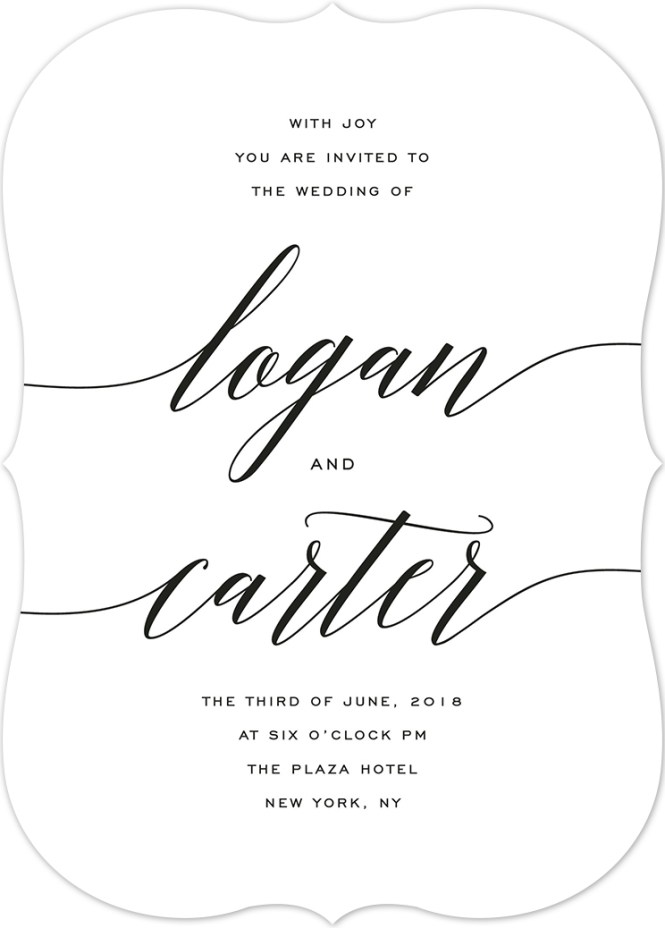 Wedding Invitation Wording Samples And Etiquette