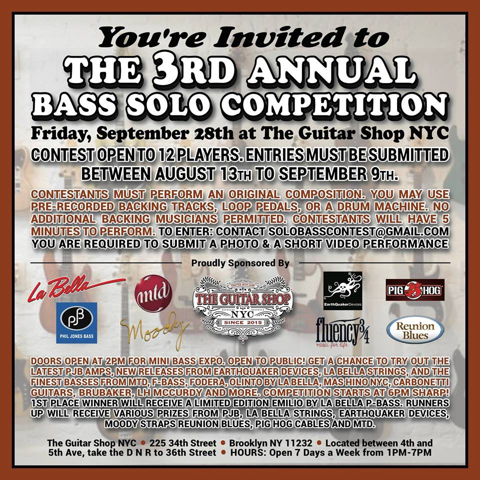 3rd Annual Bass Solo Competition X of Wands