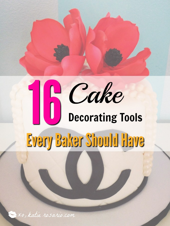 16 Cake Decorating Tools Every Baker Should Have: Like many I have always seen those fun and beautiful cakes on pinterest and instagram and I always wanted to know how they made them! I love cake decorating it is so much fun! So using this guide has helped me make better cakes and cupcakes at home that look like a professional bakery made it. I love this! If you are a beginner baker than you need these cake tools too! Save for later!