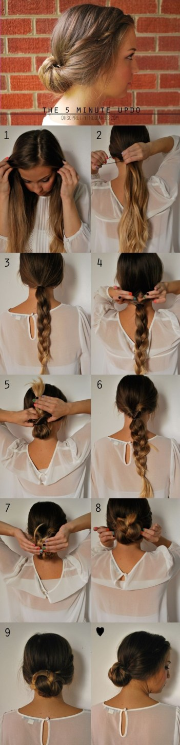 5 minute up do hairstyles for busy mornings office hair mom life
