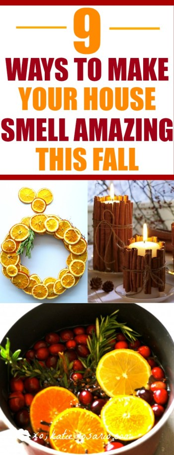 9 ways to make your home smell amazing this fall