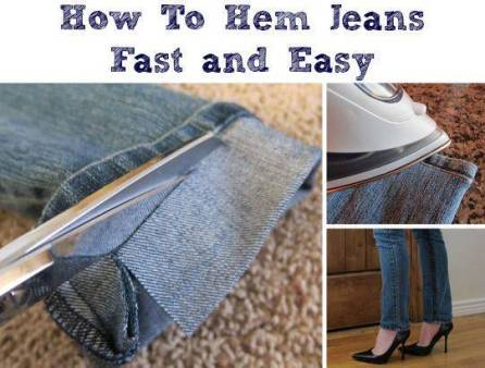 diy how to hem your jeans