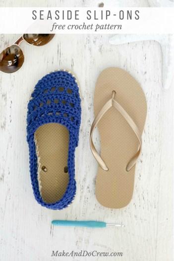 diy flip flop crochet pattern shoe tutorial