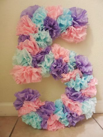 DIY Under The Sea Mermaid Birthday Party Ideas Tissue Paper Number Who Doesn