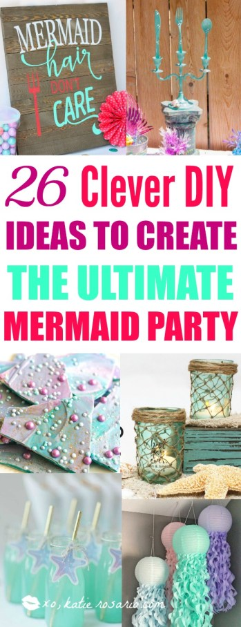 26 diy under the sea mermaid party ideas xo katie rosario pin it save it for later solutioingenieria Image collections