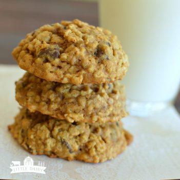 pumpkin oatmeal chocolate chip cookies. How to make pumpkin desserts this fall