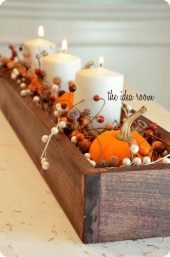 DIY Fall thanksgiving table centerpiece