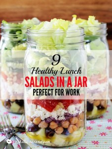 9 Healthy Lunch Salads in a Jar Perfect for Work