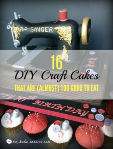 16 DIY Craft Cakes That Are (Almost) Too Good To Eat