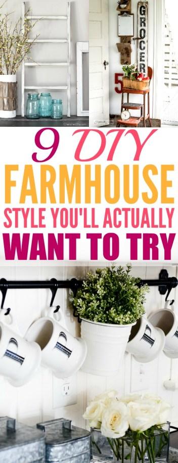 9 DIY Farmhouse Decor Ideas You Need to Try - xo, Katie Rosario