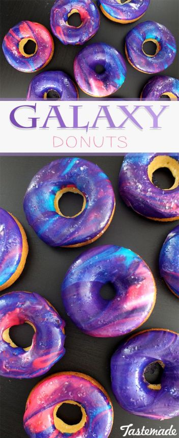 c889e098080 Galaxy Donuts. OMG! These galaxy desserts are insane! They are so pretty  and vibrant in color