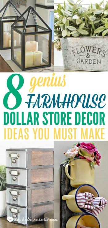 8 Easy Farmhouse Dollar Store Hacks You Need To Try Xo Katie Rosario