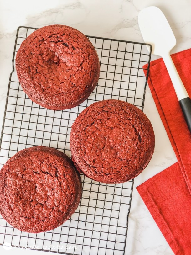 How to Make Spicy Red Velvet Cake from Scratch. Learn how to spice up your Valentine's Day with this Red Hot Red Velvet Cake. My favorite part is the hint of cinnamon and cayenne pepper that really makes this cake its own. Making red velvet cake recipe from scratch is so easy and is always a favorite! #xokatierosario #redvelvetcakerecipe #valentinesdaycake #cakedecoratingtips