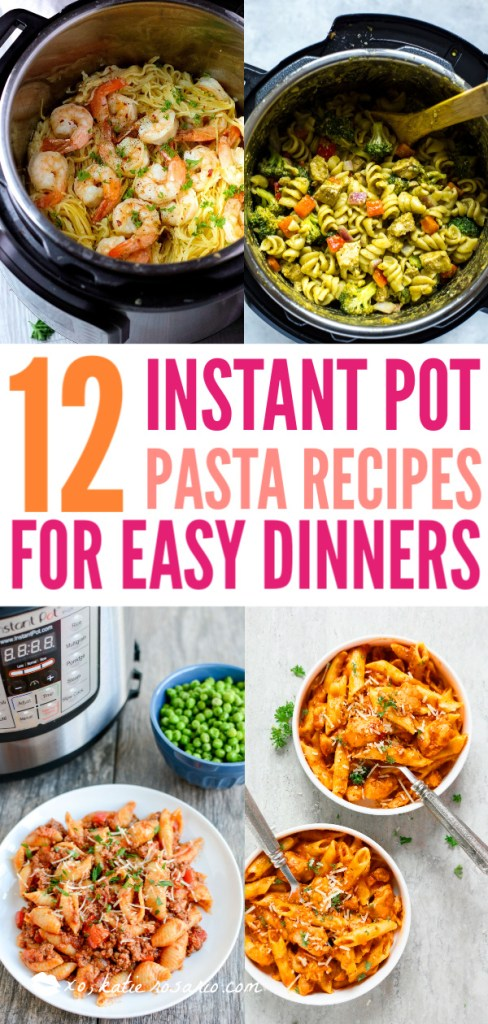 12 Instant Pot Pasta Recipes for Easy Dinners | Learn how to make easy pasta recipes you know and love in a one-pot wonder machine like the instant pot. These instant pot pasta recipes may seem too good to be true. With a little cleanup, you can have delicious soul-satisfying instant pot comfort food meals you can't wait to make. #xokatierosario #instantpotrecipes #instantpotpastarecipes #quickpastarecipes