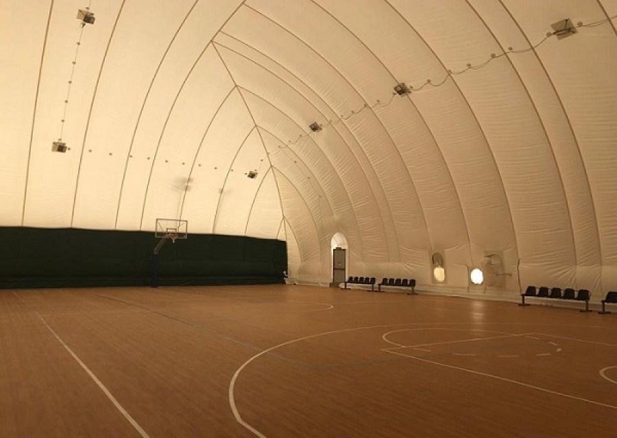 Λυόμενο στέγαστρο (μπαλόνι) στα ανοικτά γήπεδα μπάσκετ του Αθλητικού Κέντρου Χολαργού