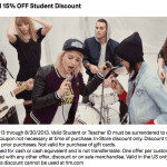 H&M Coupon: 15% Students & Teachers Discount