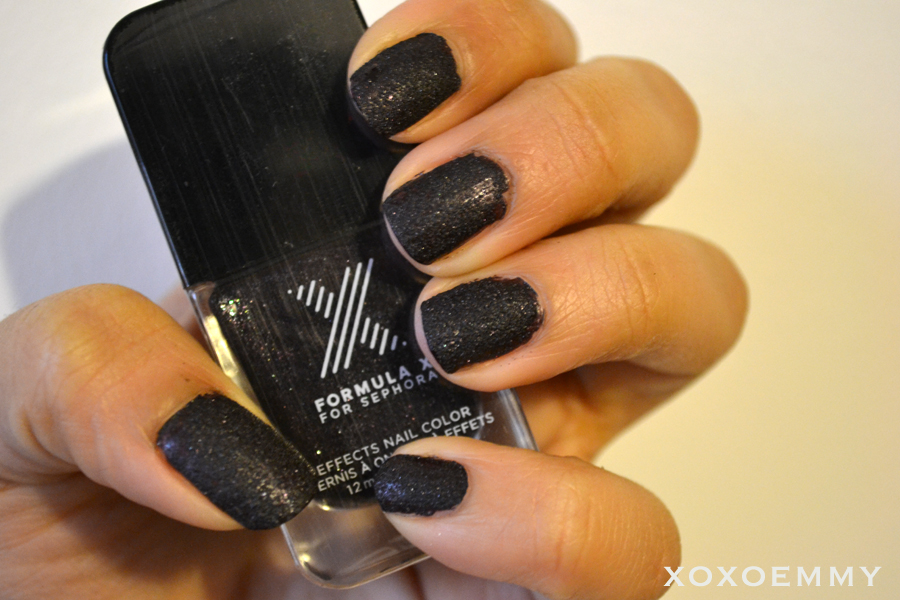 Sephora Formula X - Black Hole Swatch & Review - Xoxo Emmy