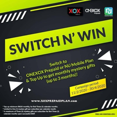 switch n win campaign ONEXOX
