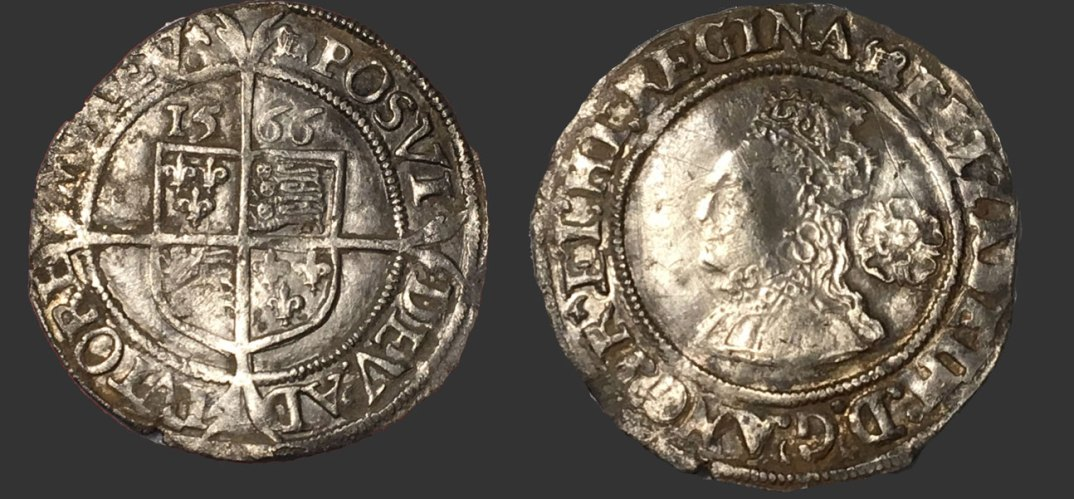 A stunning medieval coin found while metal detecting using an XP Deus